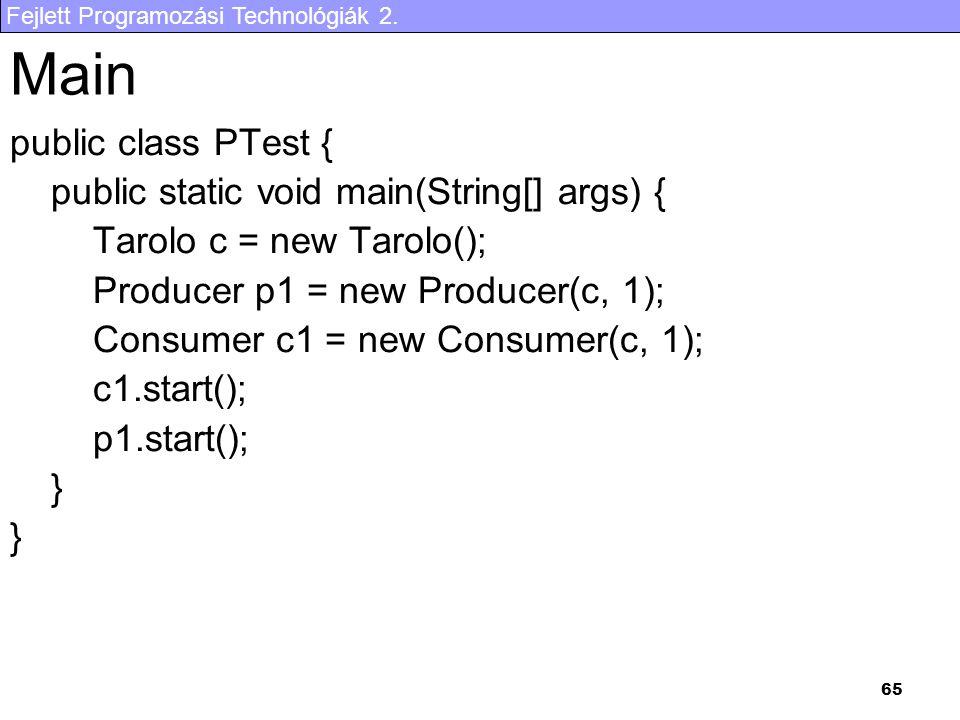 Main public class PTest { public static void main(String[] args) {